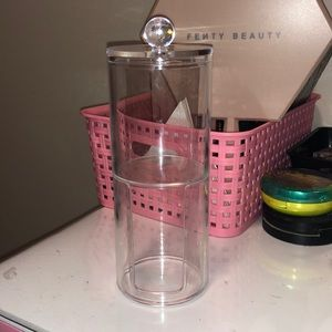 Clear Acrylic a-tip and cotton round holder